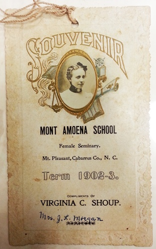 Shoup, Virginia, grad announcement, 1903, 100px