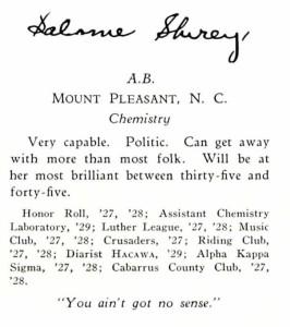 Shirey, Salome-2 (Lenoir Rhyne 1926)