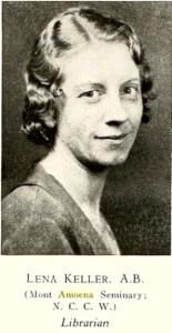 keller-lena-lenoir-rhyne-1932