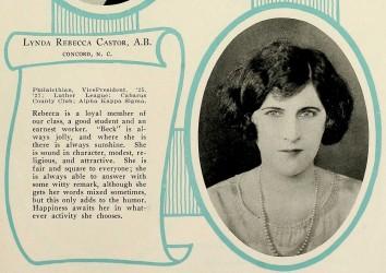 castor-rebecca-lenoir-rhyne-1927