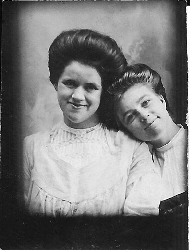 Unidentified 73 (Fannie S. Brown, class of 1910, is on left)